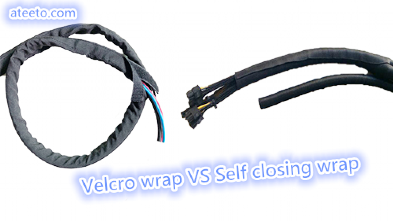 Cable wrap with velcro VS self closing wrap - rod ... on